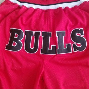 New NBA Just Don Chicago Bulls Basketball Shorts2